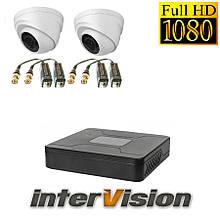 Комплект видеонаблюдения на 2 камеры для внутренней Intervision 3GR-84USB/2