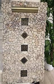 Панно-обогреватель из камня со встроенным светильником
