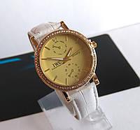 Женские наручные часы  IWC Schaffhausen белые с камнями