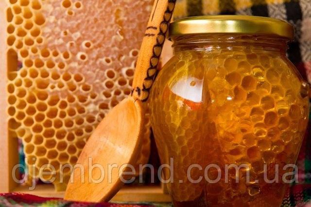 Мёд с сотами, 490 г. (350 г мед, соты 150 г)