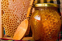 Мед с сотами, 490 г. (350 г мед, соты 150 г)