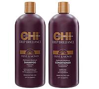 Набор для гладкости и блеска волос CHI Deep Brilliance Olive & Monoi (BIG)