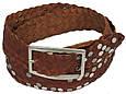 Женский кожаный ремень с заклёпками, Tom Tailor, Германия, 100137 коричневый, 4х113 см, фото 2