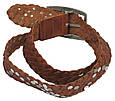 Женский кожаный ремень с заклёпками, Tom Tailor, Германия, 100137 коричневый, 4х113 см, фото 3