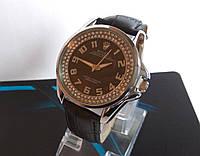 Женские наручные часы  ROLEX Ousterperpetual черные с камушками
