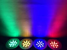 Світлодіодний тротуарний лінзованний світильник LM13 12W червоний, синій, зелений, жовтий Код.59137, фото 3