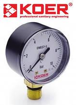 Манометр радиальный 0-10 bar (KM.502R)