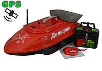 Дельфин-3-GPS - карповый кораблик для завоза снастей и прикормки  (с GPS и автопилотом)