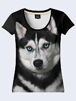 Женсая футболка Прелестный хаски