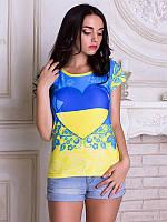 Женсая футболка Сердце Украины