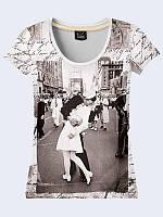 Женсая футболка Поцелуй моряка