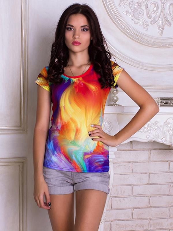 Женсая футболка Colorful