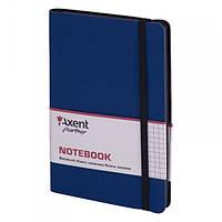 Записная книга В5 AXENT Partner Soft 8206-02-A, 96 листов, кремовый блок, в клетку, синий