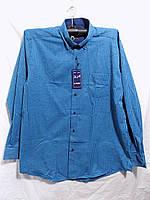 Рубашка мужская Турция легкая байка клетка оптом
