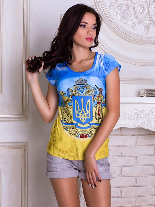 Женсая футболка Украинский Герб