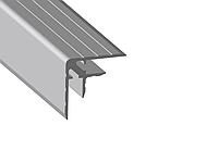 Профиль 0156. Двойной уголок . Кейсмейкер для панелей 7,1 мм. 30мм х 30мм с толщиной стенки 1,5 мм.