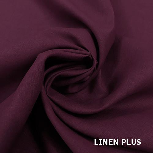 Бордова лляна тканина 100% льон колір 209