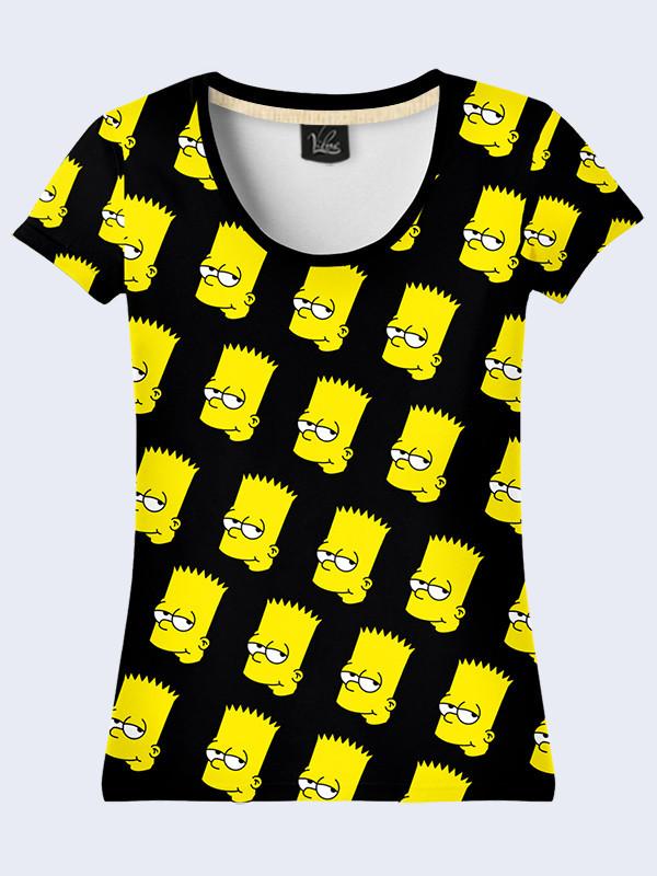 Женсая футболка Персонаж Барт