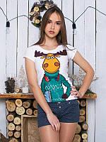Женсая футболка Модный лось