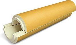 Скорлупа ППУ (пенополиуретан) без покрытия для теплоизоляции труб Ø 32/37 мм