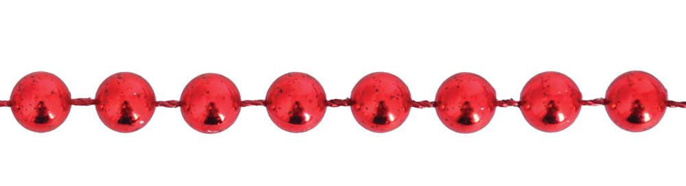 Бусы новогодние 4мм*3м, красные
