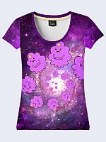 Женсая футболка Космическая Пупырка