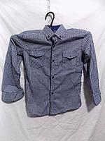 Рубашка детская на мальчика клетка легкая байка Турция оптом