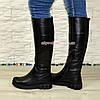 """Сапоги кожаные женские   на утолщенной подошве, черный цвет. ТМ """"Maestro"""", фото 4"""