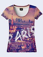Женсая футболка Ночной Париж