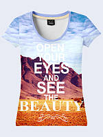 Женсая футболка Open your eyes