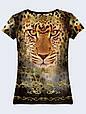 Женсая футболка Золотой леопард, фото 2