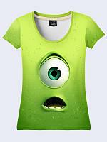 Женсая футболка Корпорация монстров Майк