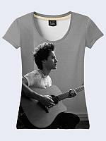 Женсая футболка Лето с гитарой