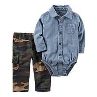 Комплект рубашка-боди и штаны Размер 6м Размер 18м Carters (США)