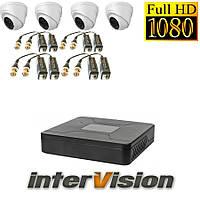 Комплект видеонаблюдения на 4 камеры для внутренней установки Intervision 3GR-84USB/4