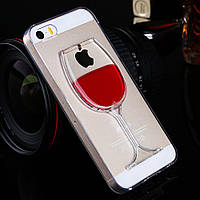 Чехол на iPhone 6 6s бокал с жидкостью