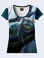 Женсая футболка Cheshire Cat