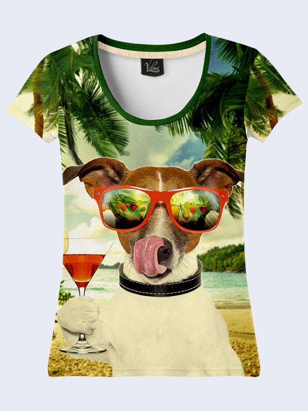Женсая футболка Собака в очках
