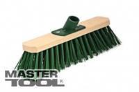 Щетка промышленная  300*75*150 мм ПЭ+ПВХ деревянная с пласт. крепл. без ручки Mastertool 14-6412