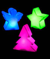 Комплект фигурок: елка, звезда, ангел (меняют цвета), фото 1