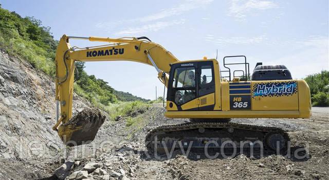 Гибридный экскаватор Komatsu третьего поколения HB3650LC-3