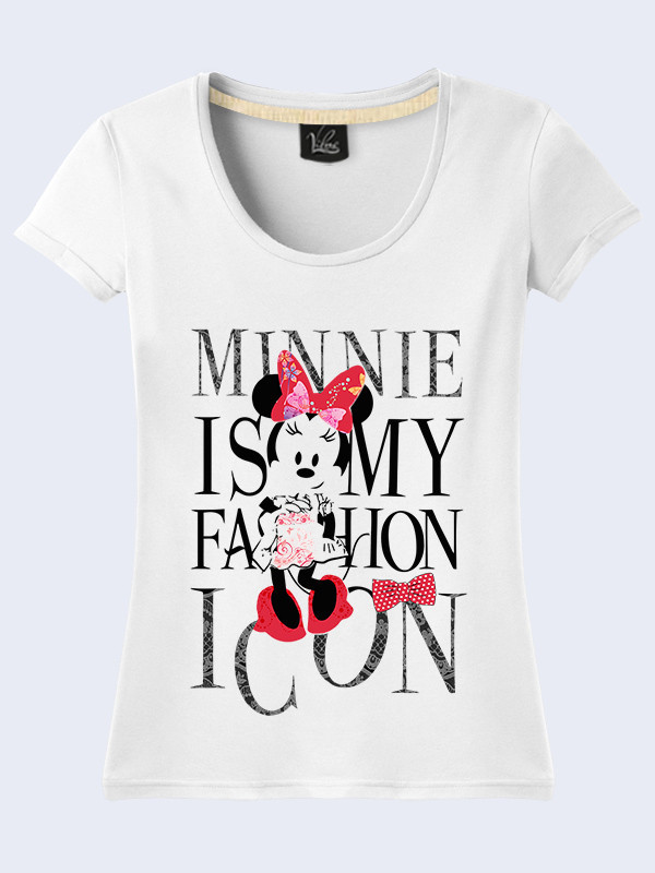 Женсая футболка Minnie Mouse is fashion icon