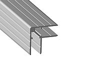 """Профіль 0162 алюмінієвий, подвійний куточок """"Кейсмекер"""" для панелей 10мм. 30х30 з товщиною стінки 1,5 мм, фото 1"""