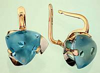 Золоті сережки  з цитрином
