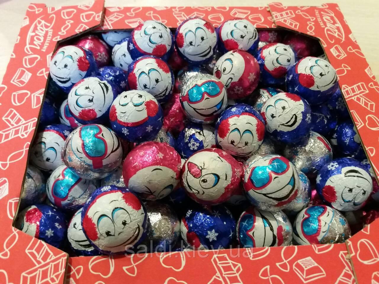 Шоколадные смайлы  Baron к новому году