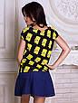 Женсая футболка с широким горлом Персонаж Барт, фото 2