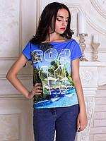 Женсая футболка с широким горлом Индия Гоа