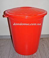 Бак мусорный пластиковый 70 л с крышкой