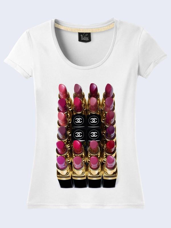 Женсая футболка Colored lipsticks
