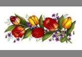Кастрюля эмалированная цилиндрическая (2 л) Epos Весенний букет, арт. 1610/2К